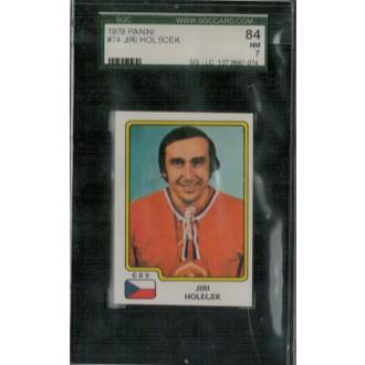 Řadové karty - Holeček Jiří - 1979 Panini Stickers No.74