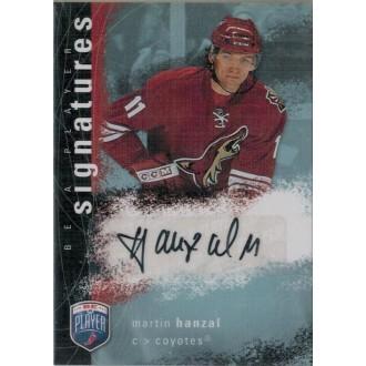 Podepsané karty - Hanzal Martin - 2007-08 Be A Player Signatures No.S-HM