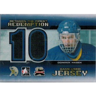 Jersey karty - Hašek Dominik - 2011-12 Between The Pipes Jersey Redemption No.BTPR25