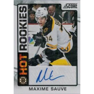 Podepsané karty - Sauve Maxime - 2012-13 Score Hot Rookie Autographs No.520