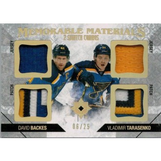 Patch karty - Backes David, Tarasenko Vladimir - 2014-15 Ultimate Collection Memorable Materials Dual Swatch Combos No.MM2-BT