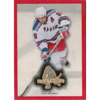 Exkluzivní karty - Lindros Eric - 2003-04 Beehive Sticks Red Border No.RE-10
