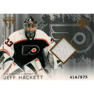 Jersey karty - Hackett Jeff - 2003-04 Titanium No.176