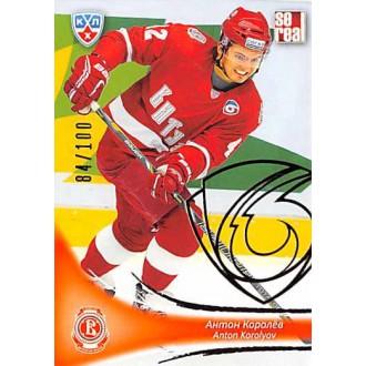 Karty KHL - Korolyov Anton - 2013-14 Sereal Gold No.VIT-013