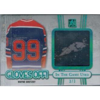 Exkluzivní karty - Gretzky Wayne - 2017-18 Leaf ITG Used Gloves Are Off Blue Spectrum No.GO-12