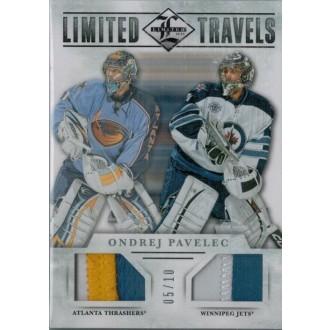 Patch karty - Pavelec Ondřej - 2012-13 Limited Travels Dual Jerseys Patch No.TD-OP