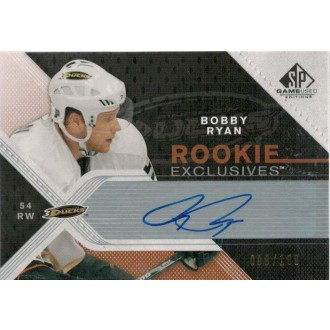 Podepsané karty - Ryan Bobby - 2007-08 SP Game Used Rookie Exclusives Autographs No.RE-BR