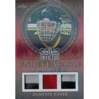 Jersey karty - Hašek Dominik - 2017-18 Leaf Invictus Undefeatable Fabric Prime Red No.UFP-07