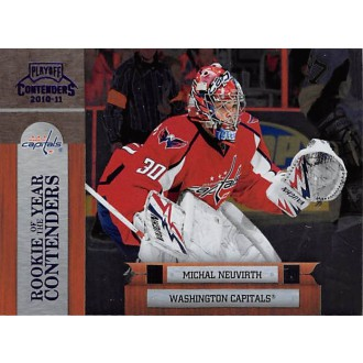 Insertní karty - Neuvirth Michal - 2010-11 Playoff Contenders Rookie of the Year Contenders Purple No.11