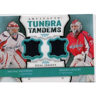Jersey karty - Neuvirth Michal, Holtby Braden - 2013-14 Artifacts Tundra Tandems Jerseys Blue No.TT-NH