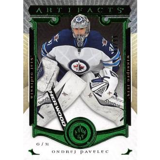 Paralelní karty - Pavelec Ondřej - 2015-16 Artifacts Emerald No.14