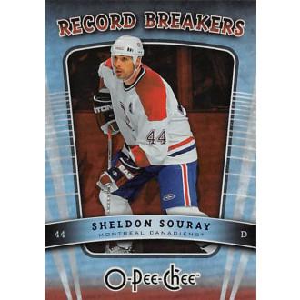 Insertní karty - Souray Sheldon - 2007-08 O-Pee-Chee Record Breakers No.RB6