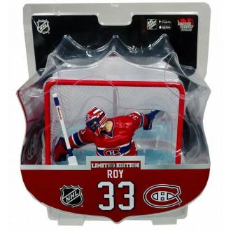 Hokejové figurky - Figurka Patrick Roy Limited Edition s brankou - Montreal Canadiens - Imports Dragon