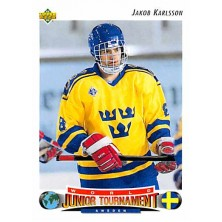 Karlsson Jakob - 1992-93 Upper Deck No.229