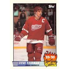 Yzerman Steve - 1990-91 Topps Team Scoring Leaders No.19