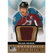 Hejduk Milan - 2012-13 SP Game Used Authentic Fabrics Gold No.AF-HE