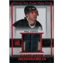 Coffey Paul - 2016-17 Leaf ITG Game Used Game Used Jersey Red Spectrum No.GU-20
