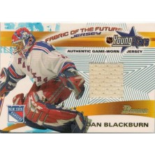 Blackburn Dan - 2001-02 Bowman YoungStars Relics No.FFJ-DB