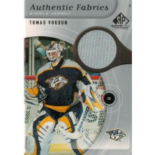 Vokoun Tomáš - 2005-06 SP Game Used Authentic Fabrics No.AF-TV