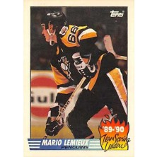 Lemieux Mario - 1990-91 Topps Team Scoring Leaders No.17
