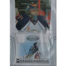 Pavelec Ondřej - 2010-11 Certified Masked Marvels Materials white No.16