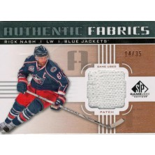 Nash Rick - 2010-11 SP Game Used Authentic Fabrics Patches No.AF-RN