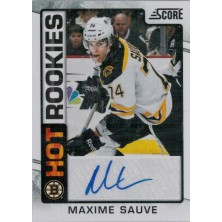 Sauve Maxime - 2012-13 Score Hot Rookie Autographs No.520