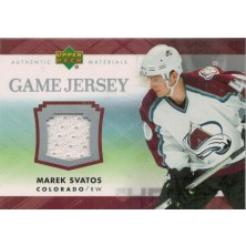 Svatoš Marek - 2007-08 Upper Deck Game Jerseys No.J-MS