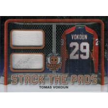 Vokoun Tomáš - 2016-17 Leaf Masked Men Stack The Pads No.SP-24