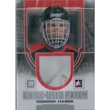 Hašek Dominik - 2013-14 Between the Pipes Game-Used Patch Silver No.GUM36