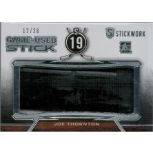 Thornton Joe - 2015-16 ITG Stickwork Game Used Sticks Silver No.GUS-35