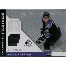 Kopitar Anze - 2007-08 SP Game Used Authentic Fabrics No.AF-KO