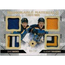 Backes David, Tarasenko Vladimir - 2014-15 Ultimate Collection Memorable Materials Dual Swatch Combos No.MM2-BT