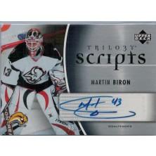 Biron Martin - 2006-07 Trilogy Scripts No.TS-MB