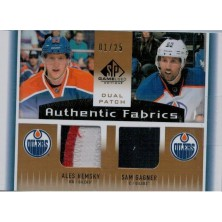 Hemský Aleš, Gagner Sam - 2013-14 SP Game Used Authentic Fabrics Dual Patches No.AF2-HG