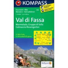Val di Fassa, Marmolada, Gruppo di Sella - Kompass 686