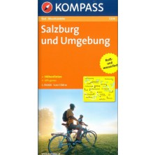 Cyklomapa Salzburg und Umgebung - Kompass 3204