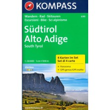 Südtirol, Alto Adige set 4 map - Kompass 699