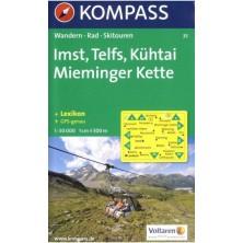 Imst, Telfs, Kühtai Mienminger Kette - Kompass 35