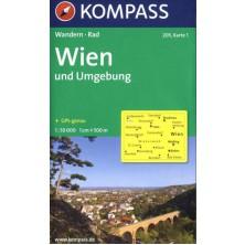 Wien und Umgebung - set 2 map - Kompass 205