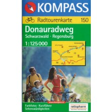 Cyklomapa Donauradweg - Schwarzwald-Regensburg - Kompass 150