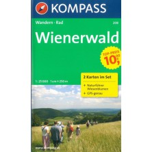 Wienerwald - set 2 map - Kompass 208