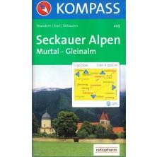 Sölktäler, Rottenmanner Tauern, Seckauer Alpen - set 2 map - Kompass 223