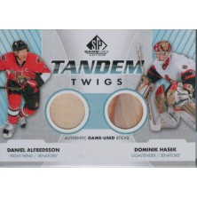 Hašek Dominik, Alfredsson Daniel - 2012-13 SP Game Used Tandem Twigs No.TT-OTT