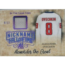 Ovechkin Alex - 2017-18 Leaf ITG Used The Nickname Hall of Fame Memorabilia Purple Spectrum No.NHF-03