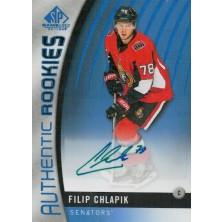Chlapík Filip - 2017-18 SP Game Used Autographs Blue No.129