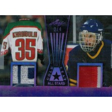 Hašek Dominik, Khabibulin Nikolai - 2017-18 Leaf Gold All Stars Memorabilia Purple No.GLAS-12
