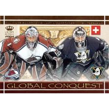 Aebischer David, Gerber Martin - 2003-04 Crown Royale Global Conquest No.9