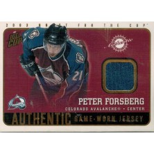 Forsberg Peter - 2002-03 Quest For the Cup Jerseys No.5