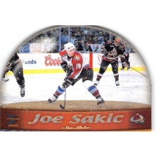Sakic Joe - 1999-00 Prism Sno-Globe Die-Cuts No.7